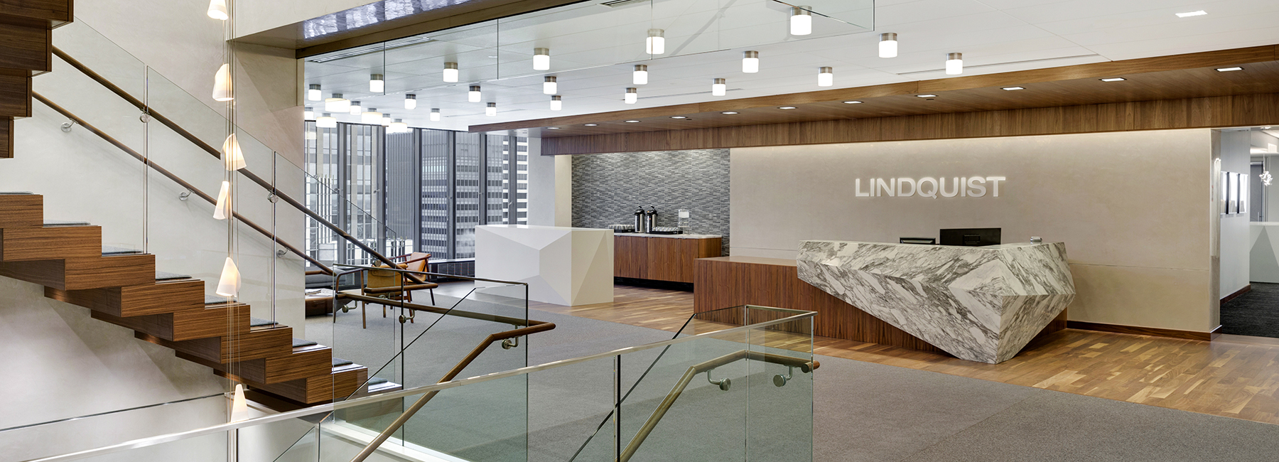 IDS Center, Lindquist + Vennum Reception Desk